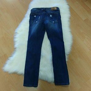 Dollhouse Pants - Dollhouse Roll-up Skinny Capri Jeans